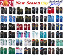 Basquete jerseys curry on-line-Nova temporada 20-21 homens Anthony 3 Davis 0 Lillard 11 Jovem 30 Curry 2 Ball 3 Wade 4 Westbrook 12 Morant 13 George Teams City Basketball Jersey