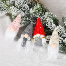 Décorations de noël en Ligne-Merry Christmas Swedish Santa Gnome Plush Doll Ornaments Handmade Elf Toy Holiday Home Party Decor Christmas Decorations
