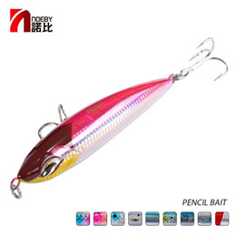água salgada top pesca pesca iscas Desconto Noeby Sea Pesca Lure Stickbait NBL9494 Lápis Lure Top Water 160mm 58g 190mm 86G GT Pesca Saltwater Stick Bait Artificial 201031