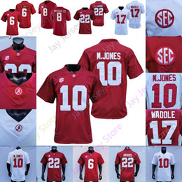 Camisetas de la universidad de alabama online-2021 Playoff Playoff College Alabama Fútbol Jersey Jaylen Waddle Nejee Harris Devonta Smith John Metchie III M. Jones College Home Away