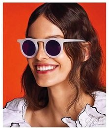 gli occhiali da sole di colore della gelatina Sconti Occhiali da sole rotondi retrò in stile europeo e americano Retro Occhiali da sole Jelly Color Personality Trend Sunglasses Uomo Simple Hip-Hop Glasses