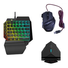 tastiera del mouse bluetooth combo Sconti 3 in 1 Bluetooth Gaming Keyboard Mouse Converter Combo Dual Cuffie Adattatore dock per PUBG Android Mobile Game1