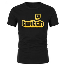 Gamer t shirts männer online-Twitch TV T-Shirt Lila Gaming Top Gamer T-Shirt-Väter Tag Fan-Geschenke Kurzarm Männer T-Shirts