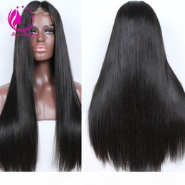 parrucche molli morbide Sconti Soft Silky Straight Brazilian Virgin Human Hair Wigs Glueless Lace Front Wigs For Black Women Natural Hairline Baby Hair