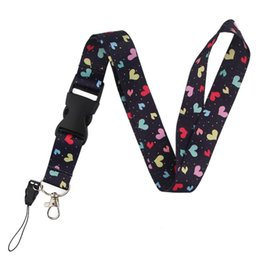 Carino carte d'amore online-CA235 Little Love Love Cute Lanyards per Keychain ID card Pass Phone Mobile Phone USB Badge Holder Hang Corda Lariat Lanyard 1pcs SQCEBZ Cases2010