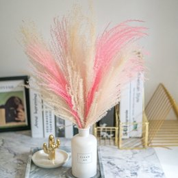 fiori bianchi alti Sconti Pink color bianco naturale Pampas erba decor flower Beautiful wedding flowers mazzo di natale decorazione domestica Phragmites Tall 17-22 201102