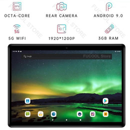 Webcam hd bluetooth on-line-10 polegadas tablet octa núcleo 3gb ram 4g lte 5g wifi bluetooth gps 2.5d vidro temperado android 9,0 gps netflix youtube hd webcam pad1