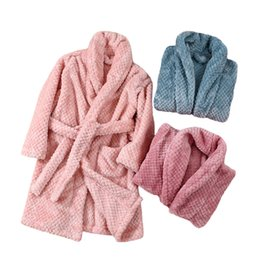 2021 teenager-jungen pyjamas  Autumn Winter Kids Sleepwear Robe 2019 Flannel Warm Bathrobe For Girls 4-18 Years Teenagers Children Pajamas For Boys F1207