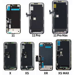 Montaggio schermo lcd online-OLED Schermo per iPhone x 11 11 Pro 11Pro MAX Display LCD Touch Screen Digitizer Assembly per iPhone11 x XS display LCD OEM