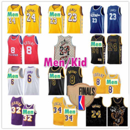 Camisas de basquete estrela on-line-Lebron 23 James Jerseys Los 6 ALL ANGELES