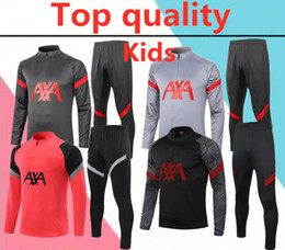 Chándales de niño online-2020 2021 liverpool kids soccer tracksuit 20/21 liverpool for adult football training suit
