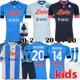 Uniforme de Formation de Football Unisexe Football Present S Sweat-Shirt de Football Unisexe PUPPYY 20-21 Nouvelle Saison Napoli Soccer Tracksuit