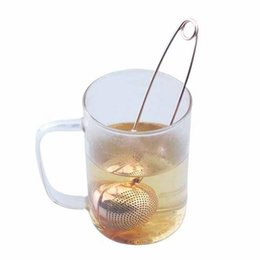 2021 colino da tè verde Rose Gold Stainless Steel Home Tea Infuser Filter Sphere Loose Leaf Green Tea Strainer For Mug Teapot Teaware Tea Strainers CCA12650