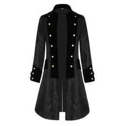 Womens Winter Vintage Brocade Gothic Steampunk Floral Jacket Tailcoat,Long Tuxedo Coat Wedding Uniform Overcoat