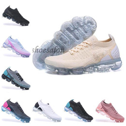 Mehrfarbige laufschuhe online-2018 Multi-Color nike vapormax max air 2.0 plus 2019 vapor Mens max Womens Knit Vapors 2.0 Black moc Running Shoes Triple Black White Run 3.0 Sneakers Zapatos Trainers
