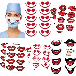 nuovo sorriso Sconti New Face Masks Sticker Smile Labbra Decalcomanie per maschere per il viso 10Sheet / Lot GWA3017