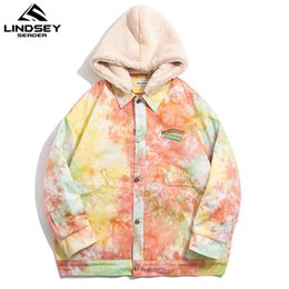 Оранжевая куртка ветровки онлайн-Lindsey Seader Hip Hop Streetwear Orange Winter Thr Th Parkas 2020 Mens Harajuku хлопковая куртка Winterbrea Mounte