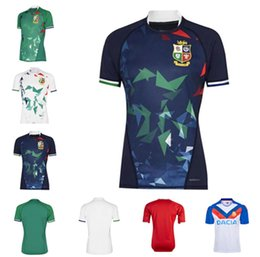 chemises hommes ligue t Promotion Nouveau 2021 Angleterre et Irlande Lions T-shirt de rugby pour hommes Jersey international Jersey Home Team National Team Lions Rugby Shirt