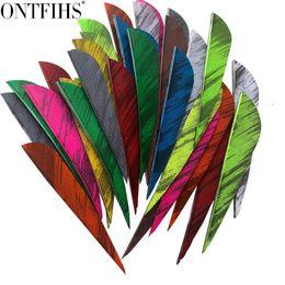 50PCS 3inch Red Parabolic Fletches Feathers Fletching RW LW