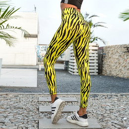 jaune leggings femmes  Promotion Peneran Print Pantalon de Yoga Fit Sécher Leggings Sport Femme Fitness Striper Gym Sport Leggings Femme Sports Collants Femme Yellow Y200328