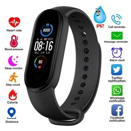 2021 fitness armbänder M5 Smart Band Fitness Tracker Armband Armband Pedometer Sport Smart Watch Bluetooth 4.0 Band M5 Farbbildschirm Smart Armband günstig fitness armbänder