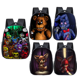 Fnaf mochila mochilas online-12 pulgadas Niños Cinco Noches en Freddys Mochilas Anime Fnaf Backpack Boys Girls School Bags Niños Bolso Bolso Mini Daily Backpack 20117