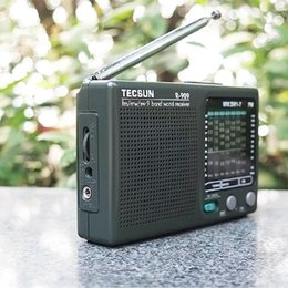 2021 digitalradios tecsun 1pcs Tecsun R-909 Radio FM-Radio Mini-Handdigital-Player LCD-Anzeige Mittelwellen Short Wave Portable Audio