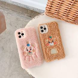 Orso marrone di iphone online-Iphone 11 Phonecase Fashion Phonecase Fashion Coppia di moda Brown Bear Phone Case per iPhone 11Pro / max / XS
