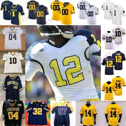 harbaugh trikots Rabatt Michigan Wolverines Fußball Jersey NCAA College Jabrill Pfeffer Brandon Graham Michael Dwumfour Jack Long Edwards Terrell Harbaugh Howard