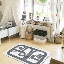 tapete de aprendizagem para crianças Desconto Estilo nórdico Kids Room Tapete Tapete Tapete Tapete Bebê Play Mat Macio Tapetes de Rasteamento de Carro Pattern Patch Patchs Learning Toy1