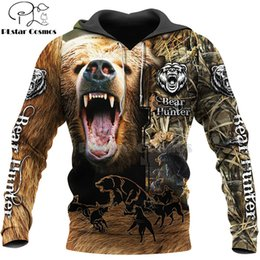t-shirt homme arc noir Promotion PLSTAR COSMOS Bear Chasse T-shirts 3D T-shirts 3D Print Sweats à capuche à capuche / Sweat-shirt / Zipper Homme Femmes Grand Bout d'Ours Noire Bow Hunter Bear-2 C1118