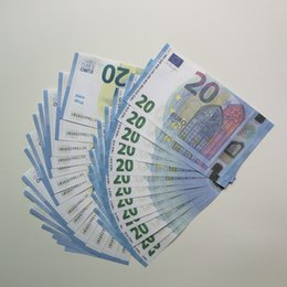 falso nota all'ingrosso Sconti Commercio all'ingrosso di Euro soldi falsi oro Banconote Prop Paper Money Bills 10/20/50 Euro I prezzi Bank Note Regali per gli uomini di Dropshipping 144