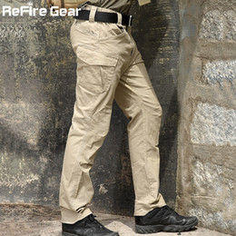 Equipaggiamento tattico dell'esercito online-Rifilo Gear Swat Combat Pantaloni tattici militari uomini Grandi Pantaloni Multi Pocket Army Pantaloni Cargo Casual Cotton Security BodyGuard Pantalone 201118