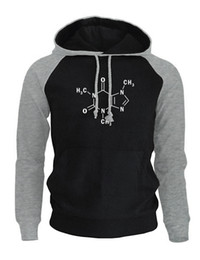 Big bang theorie kleidung online-Markenkleidung Männer Hoodies Mode Drucken The Big Bang Theory Koffein Molekulare Formel Sheldon Herren Sweatshirt Harajuku