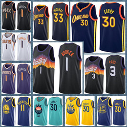 Staatliche krieger online-Stephen 30 Curry James 33 Wiseman Goldener Zustand