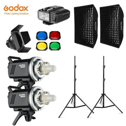 2021 luce porte del fienile GODOX MS300 600WS 2x 300WS Photo Studio Studio Illuminazione flash, Softbox, Supporto luminoso 280cm, Porta del fienile, Trigger, Flash Fornitori integrati1
