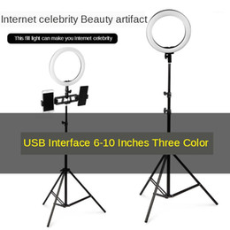 подставка для видеокамеры Скидка Рингрик для макияжа Live Fill Light Ring Light LED Selfie Stand Stardod Dimmable YouTube Lamp Photo Video Camera Phone1