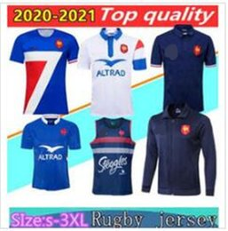 giacche fr  Sconti 20/21 PR Super Rugby Jerseys Gilet con Giacca 2020 FR Camicie Rugby Maillot de Foot French Boln Boln Rugby Camicia Giacche Thailandia