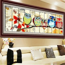 2021 ricamato a gufo cucito Huacan Diamond Painting 5D Owl Diamante Art Full Drill Drill Mosaico Croce Stitch Animale Ricamo Cartoon Home Decor 201212 ricamato a gufo cucito economici