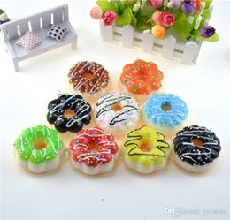 2021 portachiavi ciambella squishy Jumbo Donut Slow Nascino Squishy Fascino per Keychains Kawaii Squishies Crema Decompressione Decompressione Decompressione Ansia Toy Toychains Accessorio