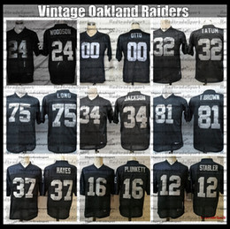 jersey jim brown Desconto Vintage Mens Jim Otto Tim Brown 24 Charles Woodson Jack Tatum Hayes Long Alzado Plunkett Bo Jackson Steabler Football Jersey AC6