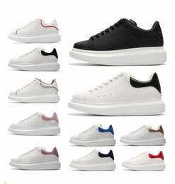 Los mejores zapatos casuales para las mujeres online-Top Quality designer shoes Genuine Leather Sneaker fashion Mens Women oversized espadrille White Leather Platform Shoes Flat Casual Shoes