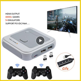 consolas de videogames para Desconto Retro Mini TV / Video Game Console para PS1 / N64 / DC com 50 emuladores com 41000 jogos Support HDMI com o Wireless Gamepad