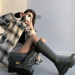 Zapatos de punk grueso online-INS Hot New Brand Ladies Platform Boots Fashion Punk Cool Cuñas Botas Mujeres 2020 Tacones Chunky Party Office Shoes Mujer C1120