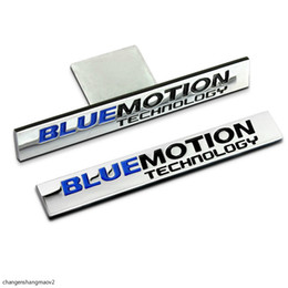 Jetta-abziehbild online-Metal Car Sticker Auto Badge Emblem Decal For VW Volkswagen Golf Lavida Jetta Touareg CC Beetle Scirocco Bluemotion Technology