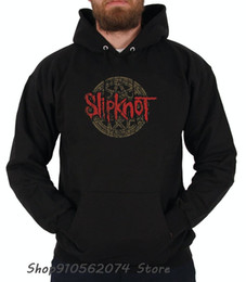 Hoodies do metal preto on-line-Slipknot Black Heavy Metal Band Homens Hoodie Headband Wome