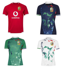 Camisetas irlandês on-line-2020 2021 British Irish Lions Rugby Jersey 20 21 Lions Britânicos Rugby Home Training Camisa Tamanho S-5XL