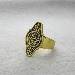 anello dorato di moda per gli uomini Sconti Hobbit Elrond Golden Ring Lortr of Rings Elf Ring Fashion Men Jewelry Fan fan Gift1