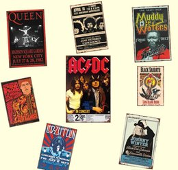 2021 carteles de chapa de musica Banda ACDC Venta Pub Música Pintura Signo de Placas de Tina Retrol Regalo de pared Cartel caliente Bar Restaurante Decoración Arte Rock Metal Home Jllvl Yummy_shop