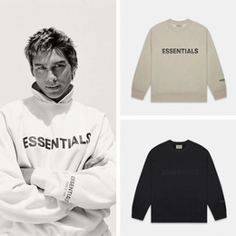 Un pull en ligne en Ligne-2020 nouveau High Street FEAR OF GOD ESSENTIALS FOG brouillard nouvelle Double ligne col rond pull hommes et femmes Couple sweats à capuche